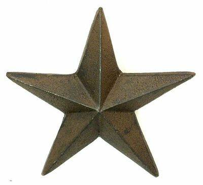 "5"" Cast Iron Nail Stars Set of 6 Craft Western Decor Texas Lone Star"