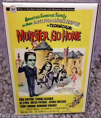 "Munster Go Home Movie Poster 2"" x 3"" Refrigerator Locker MAGNET Munsters"