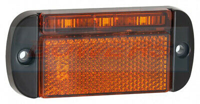 Led Autolamps 44Ame 12V/24V Amber Slim Line Side Marker Lamp/Light Truck Trailer