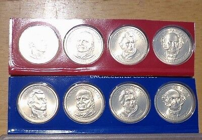 2008 P & D Presidential  Dollar 8 Coin Lot Sealed Uncirculated Mint Set Cello