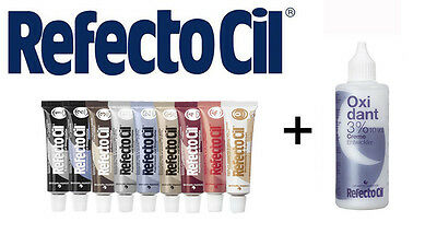 SET RefectoCil Developer Cream 100ml+ Eyebrow& eyelash tint various colour 15ML
