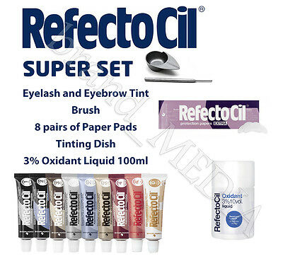 COMPLETE SET1 RefectoCil Eyebrow& eyelash tint various colours  ALL YOU NEED