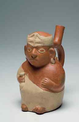 Published Moche Figural Vessel ex Sackler Collection Pre-Columbian Antiquity
