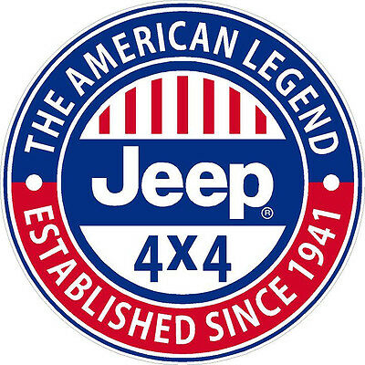 "#327 4"" Jeep Wrangler Grand Cherokee American Legend Decal Sticker Laminated"