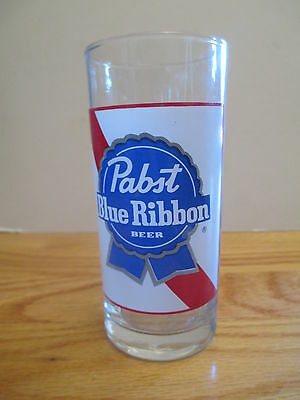 "Vintage 70s PABST BLUE RIBBON BEER 5"" Beer Glass"