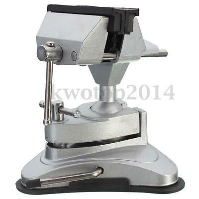Table Top Bench Vice Vise 360 Rotates Tilts Adjustable Clamp Rubber Suction Base
