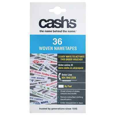 Cash's 36 Woven Name tapes