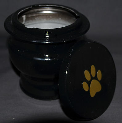 Small Pet Cremation Urn - Black - Ashes Funeral Memorial Casket Cat Dog