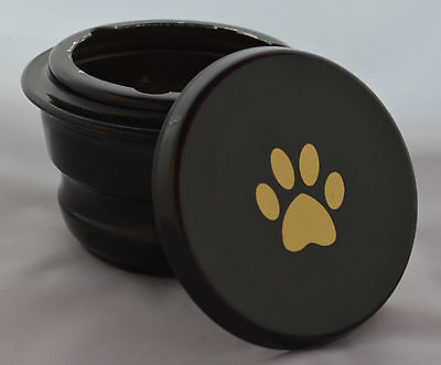 Small Pet Cremation Urn - Black - Ashes Funeral Memorial Cat Dog