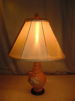Vtg Calla Lily Table Lamp Swirl Weller Pottery Roseville Ceramic