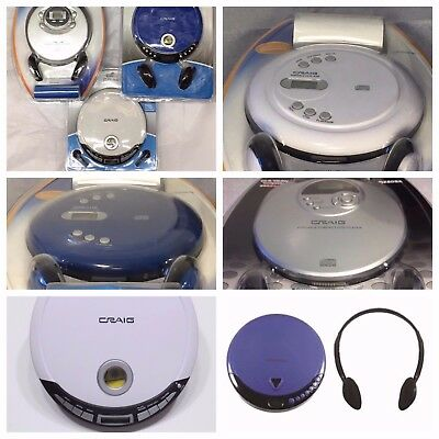 New Craig CD2808 Personal Cd Player with LCD Display Assorted Colors - Sealed