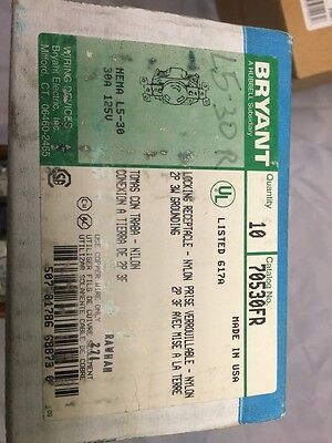 BRYANT  70530-FR Locking flush receptacle 2p 3w 30a 125v grounding L5-30