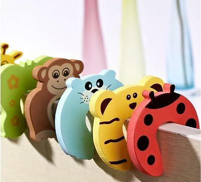10pcs Animal Cartoon Child Baby Stop Door Stopper Holder Safety Corner Guards FI