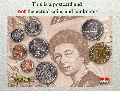 Postcard: Kiribati Circulating Coins and Currency (Banknote) 2013