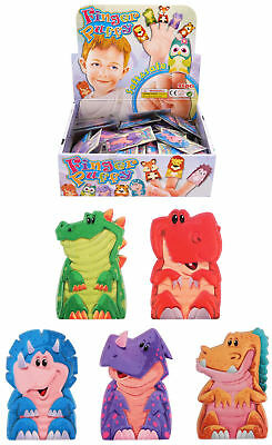 6 Finger Puppet Dinosaurs - Pinata Toy Loot/Party Bag Fillers Wedding/Kids