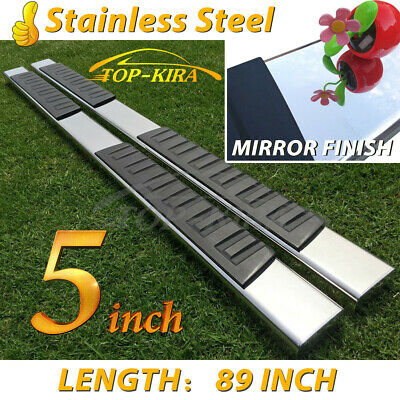 """For 07-17 TOYOTA Tundra Crew Max 5"""" Nerf Bar Side Step Running Board Chrome"""