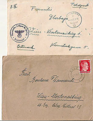 stamp GERMAN DOCUMENT 2  envelops Feldpost card