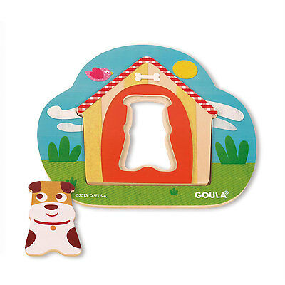 Goula Dog House Wooden Puzzle - Brand New Children's Puzzle