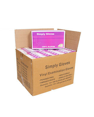 Disposable clear vinyl gloves latex free and powder free price is for 10 boxes