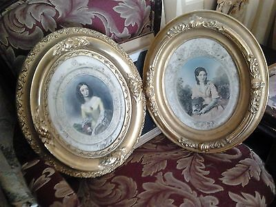 3 pieces - Antique Art with Ornate Frames $50/each