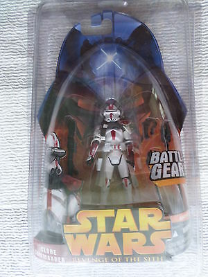 Star Wars 2005 Return of the Sith Hasbro Action Fig #33 Clone Commander MOC Red