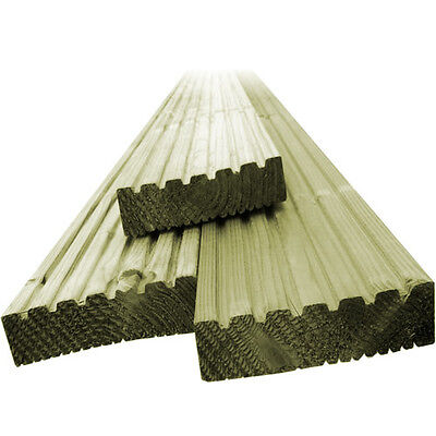 8 x 2.4m LENGTHS OF ex125mmx38mm TIMBER TREATED HIGH QUALITY WOOD DECKING BOARDS