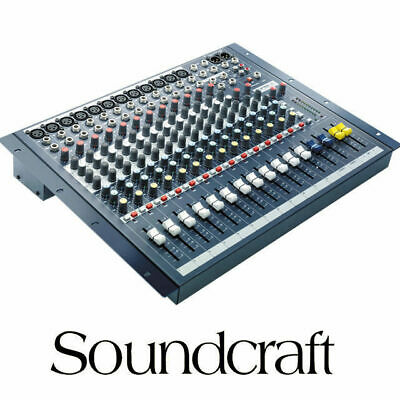 Soundcraft EPM12 12 Channel XLR mixer with 2x Stereo inputs Mixing Desk