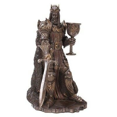 King Arthur Pendragon Wielding Excalibur Sword Figurine Knights of Round Table
