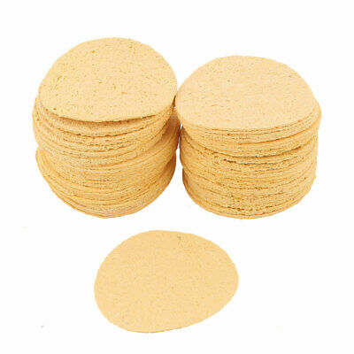 50pcs 50mm Dia Soldering Iron Tip Replacement Sponges Welding Cleaning Pads