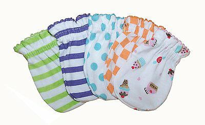Mix Design - 5 Pairs Cotton Newborn Baby/infant No Scratch Mittens Gloves