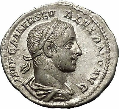 Severus Alexander 226AD Silver Ancient Roman Coin PAX Peace Goddess Cult  i52307