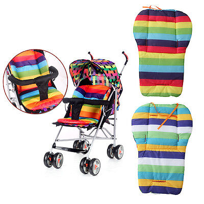 Baby Stroller Cushion Pad Pram Padding Liner Car Seat Rainbow cotton thick mat