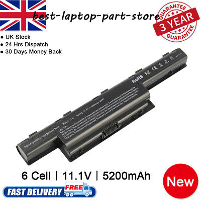Laptop Battery for Acer Aspire 4551 4741 5750 7551 7560 7750 AS10D31 AS10D51 UK