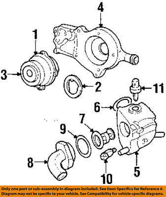 Ford Oem 2003 Escort 2 0l L4 Engine Coolant Thermostat Housing