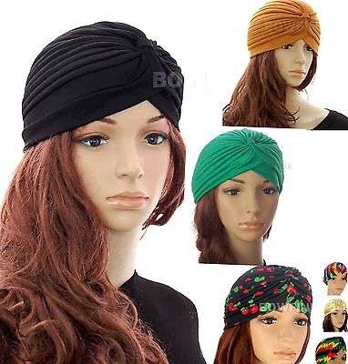 Ladies Turban Band Hat Cap Hijab Headwear Wrap Hair Loss Chemo Headwrap Bandana