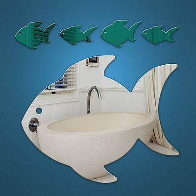 Fish Family acrylic wall mirror U.K.made take a look shatterproof-safe