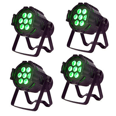 ColorKey MicroPar Hex 7 7x12w RGBAW-UV LED-4 Pack