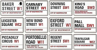 FRIDGE MAGNET - London Streets (Various Designs) - Large UK Road Signs
