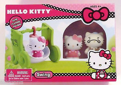 Hello Kitty Swing playset with two flocked figures