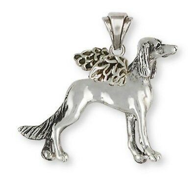 Saluki Angel Pendant Jewelry Sterling Silver SA4A-P