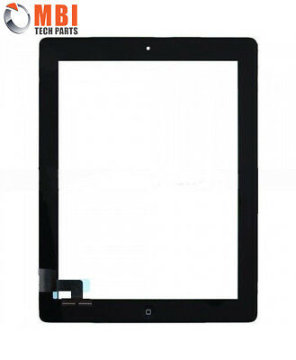 Replacement Touch Screen Glass Digitizer Home Button iPad 2 2nd Gen A1395 Black