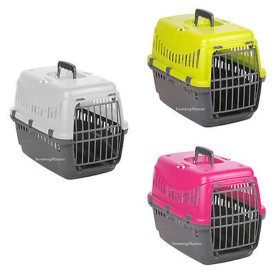 Pet Carrier Cat Kitten Dog Portable Travel Transport Box Cage Pink Grey Green