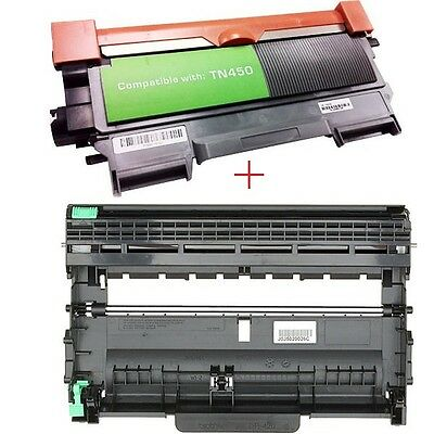 2PK (TN450+DR420) Toner Drum Set For BROTHER MFC-7460 HL-2230 2220 DCP-7065 7060