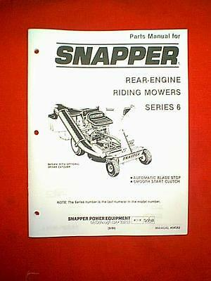 snapper series 16 rear engine rider riding mower parts manual snapper rear engine series 6 riding mower parts manual