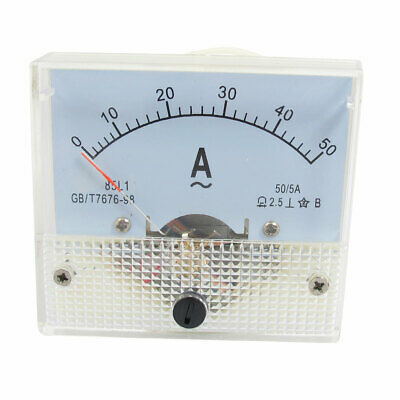 AC 0-50A 2.5 Class Analog Ammeter Analogue Panel Ampmeter Current Meter Gauge