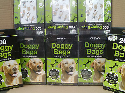 1200 Dog-Puppy Doggy Scented Degradable Poo Bags-Pet-Poop-Dispose {6X200}