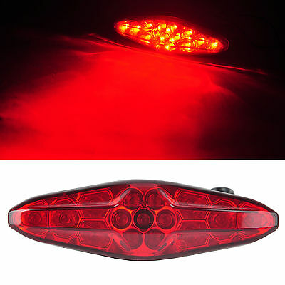 New Universal Motorcycle Red Lens Running Brake Stop License Plate Tail Light