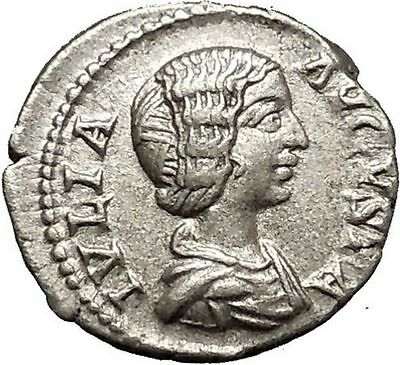 JULIA DOMNA 196AD Ancient Silver Roman Coin Felicitas Good luck Cult i52336