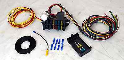 8 Circuit Universal Wire Harness Muscle Car Hot Rod Street Rod Rat Rod New