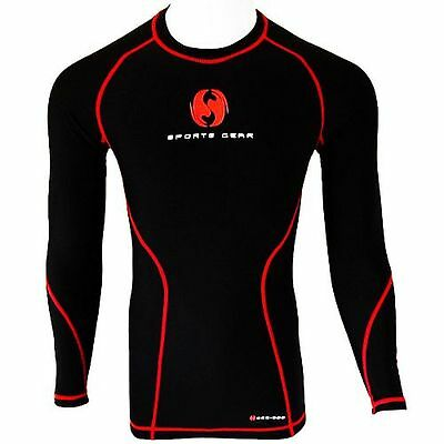 SSG Mens Compression Armour Base Layer Top Long Sleeve Thermal Gym Sports Shirt